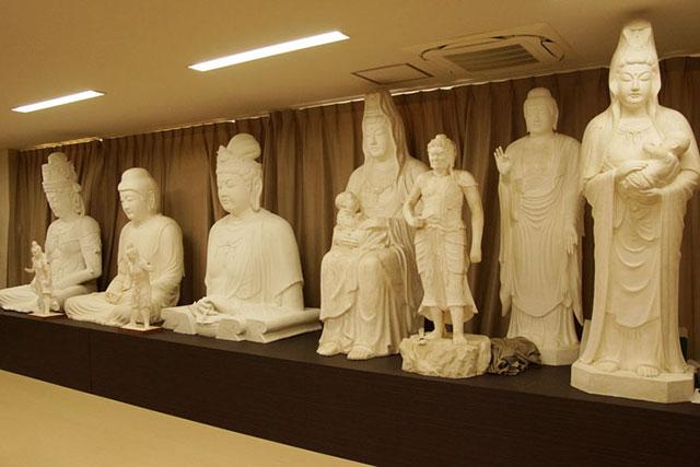 仏像の石膏原型
