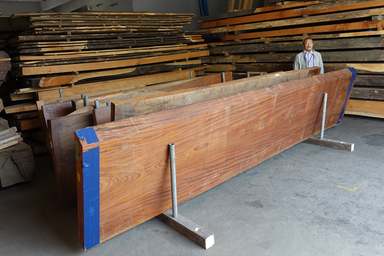 希少な欅厚板(長尺)入荷